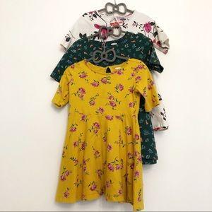 Old Navy Girl's Bundle: 3 Floral 5T dresses